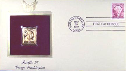#3140a 60¢ George Washington - Gold-Foil First Day Cover