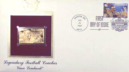 #3145 32¢ Vince Lombardi - Gold-Foil First Day Cover