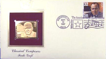 #3163 32¢ Composers: Ferde Grofe - Gold-Foil First Day Cover