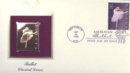#3237 32¢ American Ballet - Gold-Foil First Day Cover