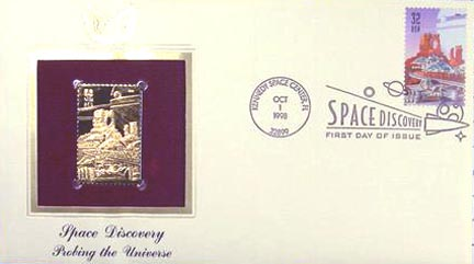 #3238 32¢ Space Discovery: Space City - Gold-Foil First Day Cover