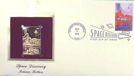 #3241 32¢ Space Discovery: Ship Ascending - Gold-Foil First Day Cover