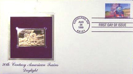 #3333 33¢ All Aboard!: Daylight - Gold-Foil First Day Cover