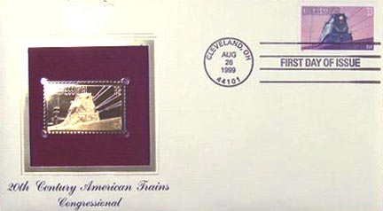 #3334 33¢ All Aboard!: Congressional - Gold-Foil First Day Cover