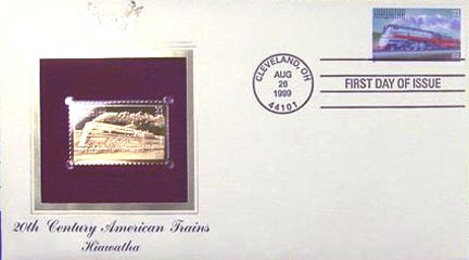 #3336 33¢ All Aboard!: Hiawatha - Gold-Foil First Day Cover