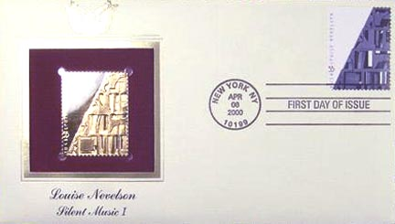 #3379 33¢ Louise Nevelson: Silent Music - Gold-Foil First Day Cover