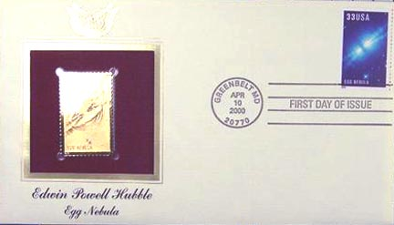 #3387 33¢ Edwin Hubble: Egg Nebula - Gold-Foil First Day Cover