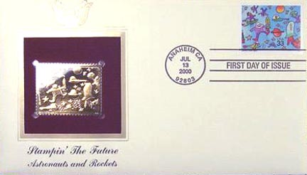 #3414 33¢ Stampin' the Future: Zachary Canter - Gold-Foil First Day Cover
