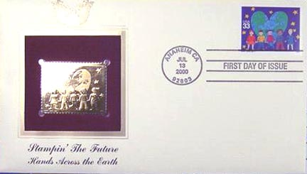 #3415 33¢ Stampin' the Future: Sarah Lipsey - Gold-Foil First Day Cover