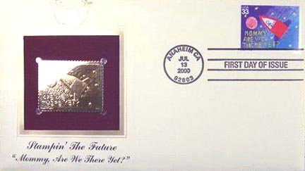 #3416 33¢ Stampin' the Future: Morgan Hill - Gold-Foil First Day Cover