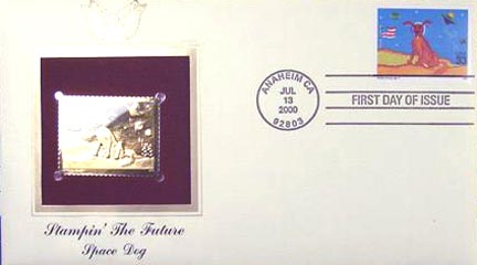 #3417 33¢ Stampin' the Future: Ashley Young - Gold-Foil First Day Cover