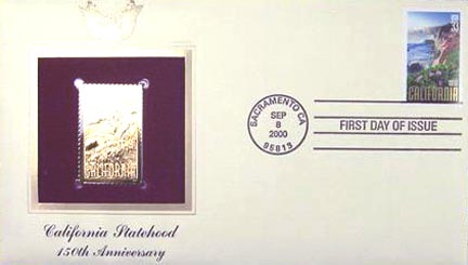 #3438 33¢ California Statehood - Gold-Foil First Day Cover