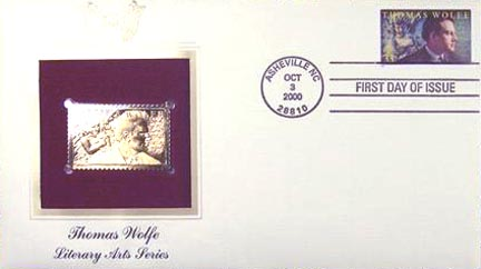 #3444 33¢ Thomas Wolfe - Gold-Foil First Day Cover