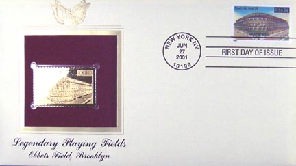 #3510 34¢ Ebbets Field - Gold-Foil First Day Cover