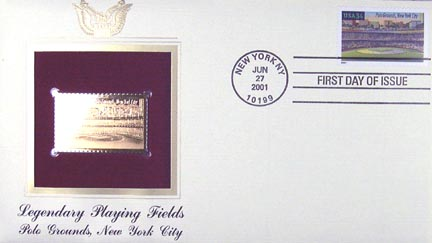 #3514 34¢ Polo Grounds - Gold-Foil First Day Cover