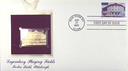 #3515 34¢ Forbes Field - Gold-Foil First Day Cover