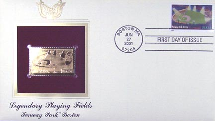 #3516 34¢ Fenway Park - Gold-Foil First Day Cover