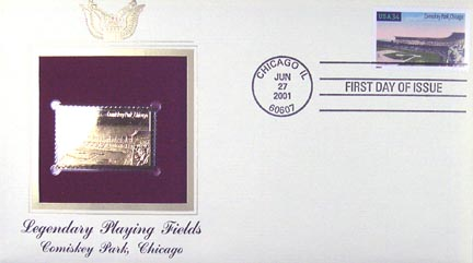 #3517 34¢ Comiskey Park - Gold-Foil First Day Cover