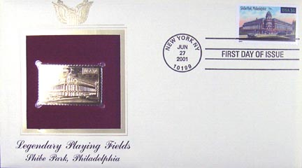 #3518 34¢ Shibe Park - Gold-Foil First Day Cover