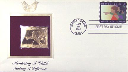 #3556 34¢ Mentoring a Child - Gold-Foil First Day Cover
