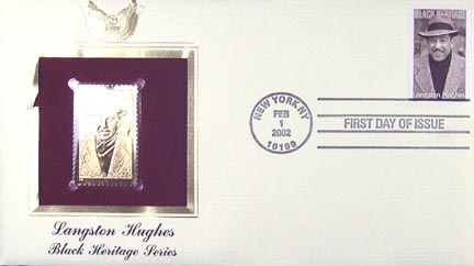 #3557 34¢ Langston Hughes - Gold-Foil First Day Cover