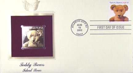 #3656 37¢ Ideal Bear - Gold-Foil First Day Cover