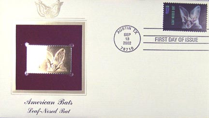#3662 37¢ Leaf-nosed Bat - Gold-Foil First Day Cover