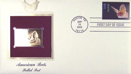 #3663 37¢ Pallid Bat - Gold-Foil First Day Cover