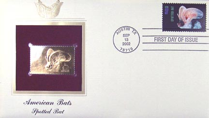 #3664 37¢ Spotted Bat - Gold-Foil First Day Cover