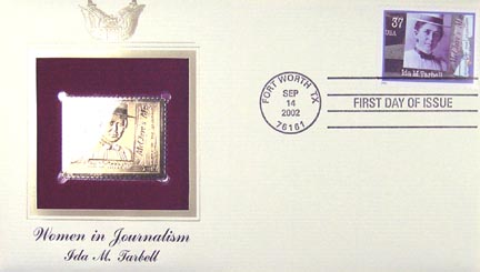 #3666 37¢ Ida M. Tarbell - Gold-Foil First Day Cover