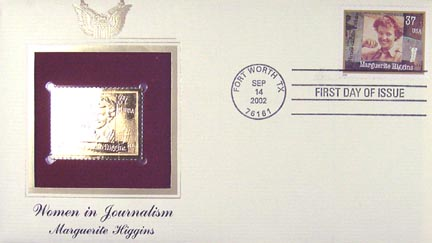 #3668 37¢ Marguerite Higgins - Gold-Foil First Day Cover