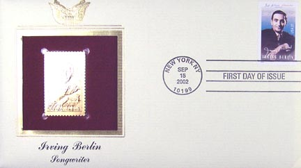 #3669 37¢ Irving Berlin - Gold-Foil First Day Cover