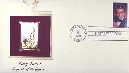 #3692 37¢ Cary Grant - Gold-Foil First Day Cover
