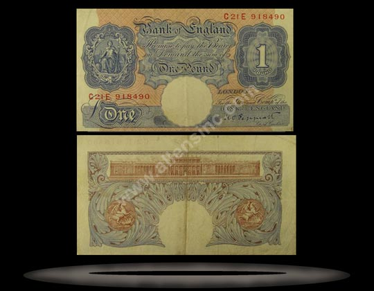 Great Britain Banknote, 1 Pound, ND (1940-48), P#367a