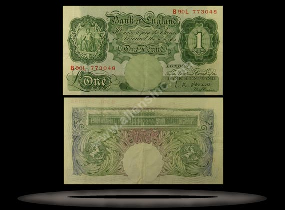 Great Britain Banknote, 1 Pound, ND (1955-60), P#369c MAIN