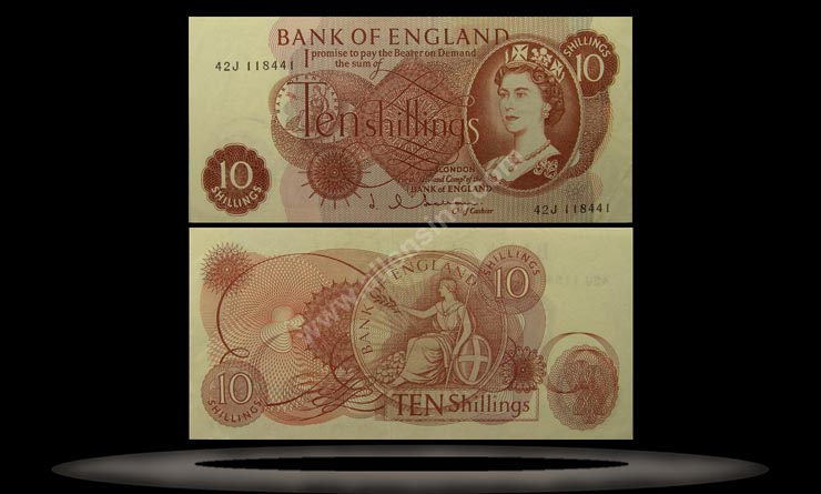 Great Britain Banknote, 10 Shillings, ND (1962-66), P#373b