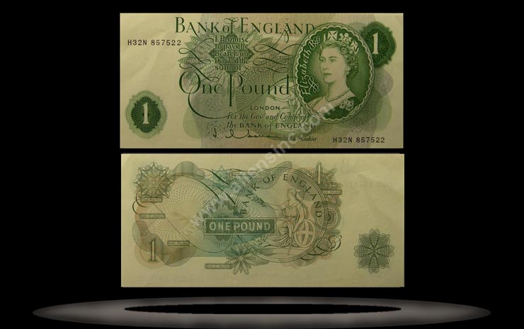 Great Britain Banknote, 1 Pound, ND (1966-70), P#374e