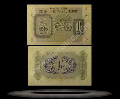 British Military Authority, Great Britain Banknote, 1 Shilling, ND (1943), P#2 MAIN