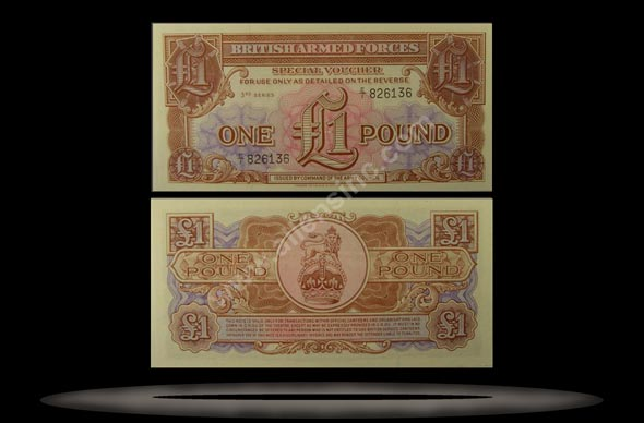 British Armed Forces, Great Britain Banknote, 1 Pound, ND (1956), P#29