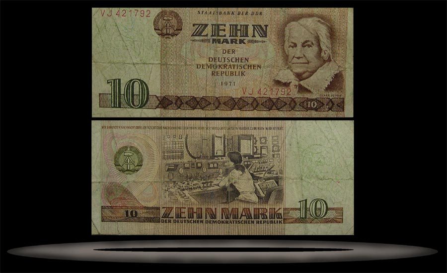 Germany, East Banknote, 10 Mark, 1971, P#28b