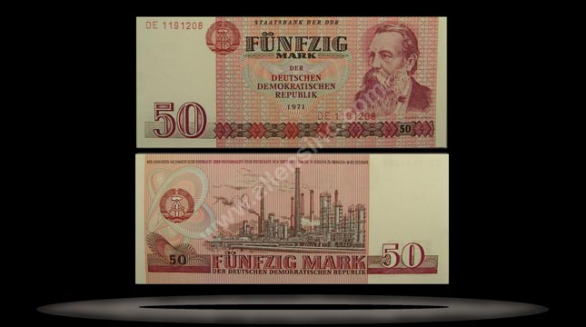 Germany, East Banknote, 50 Mark, 1971, P#30b