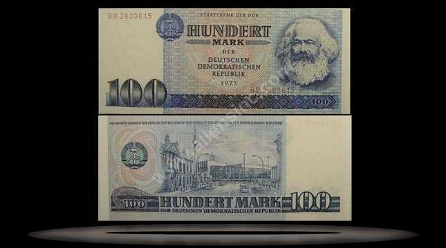 Germany, East Banknote, 100 Mark, 1975, P#31a