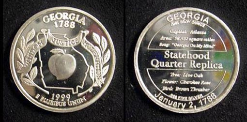 Georgia Quarter Replica' Art Bar.