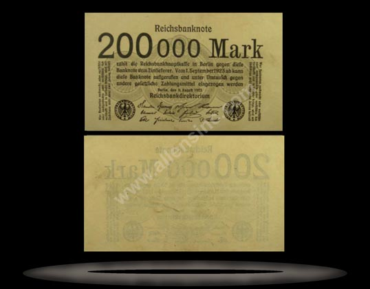 Germany Banknote, 200,000 Mark, 9.8.1923, P#100