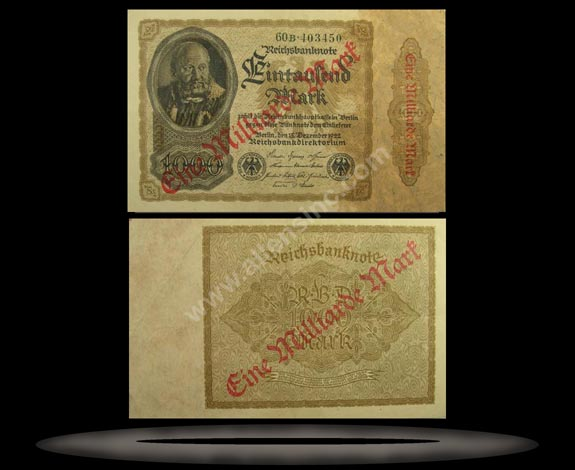 Germany Banknote, 1 Milliarde Mark, P#113a