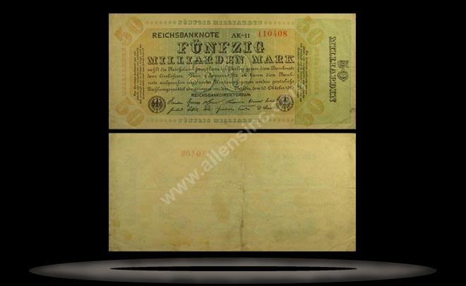 Germany Banknote, 50 Milliarden Mark, 10.10.1923, P#120a