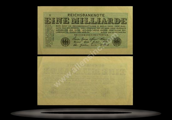 Germany Banknote, 1 Milliarde Mark, 20.10.1923, P#122