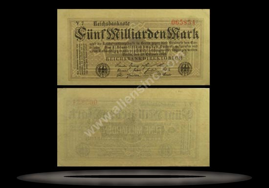 Germany Banknote, 5 Milliarden Mark, 20.10.1923, P#123b