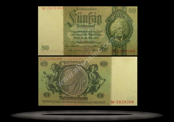Germany Banknote, 50 Reichsmark, 30.3.1933, P#182b
