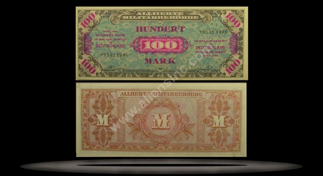 Allied Occupation of Germany Banknote, 100 Mark, 1944, P#197d